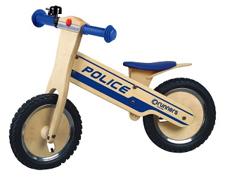 Police Runners Wooden Bike