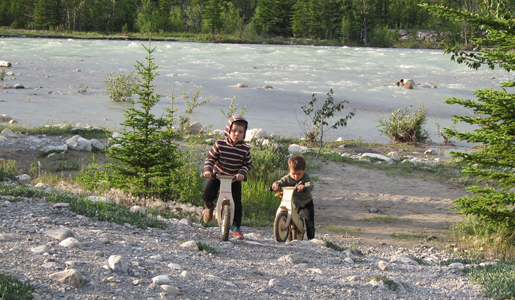 Balance Bikes in Jasper National Park